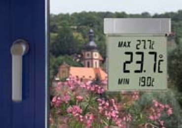 Digitales Fensterthermometer TFA Vision Außenthermometer, abnehmbar, selbstklebend
