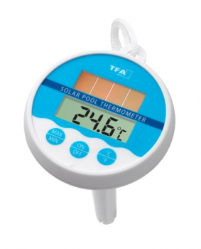 Solar - Schwimmbadthermometer Poolthermometer Teichthermometer Wassertemperatur